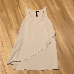 Cream racerback dress